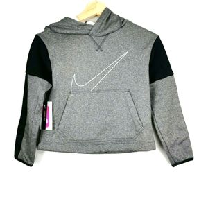 Nike Therma Graphic Pullover Hoodie Grey small